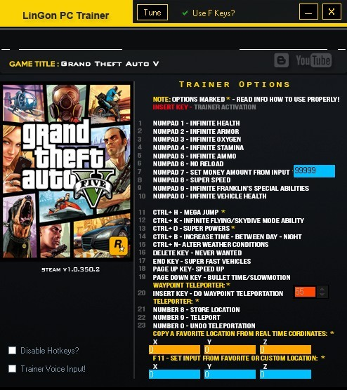free Grand Theft Auto V PC Money Hack, Health, Super Speed